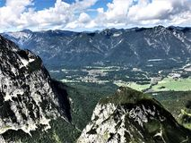 Hiking in Bavaria Germany Mountain Views/ Wandern in Bayern Berge. Hiking and landscape in Bavaria Germany Mountain Views/ Wandern in Bayern Berge Royalty Free Stock Images