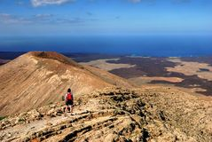 Hiking in Lanzarote Stock Photos