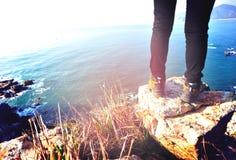 Hiking legs Stock Photography