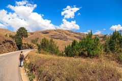 Hiking in Madagascar Royalty Free Stock Photos