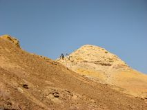 Hiking in Makhtesh Katan, Negev desert. Stock Images