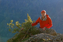 Hiking man, Black Forest, Germany Stock Images
