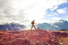 Hike in Canada Stock Photography