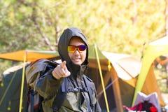 Hiking man Stock Image