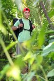 Hiking man in nature Royalty Free Stock Images