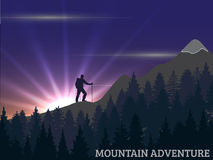 Hiking man Royalty Free Stock Photography
