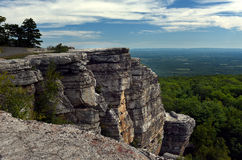 Hiking at Minnewaska State Park. Reserve Upstate NY during summer time Stock Photo