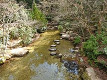 Hiking at Miyajima Island, Hiroshima, Japan.  royalty free stock image