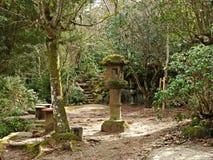 Hiking at Miyajima Island, Hiroshima, Japan.  royalty free stock images