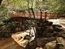 Hiking at Miyajima Island, Hiroshima, Japan.  stock images