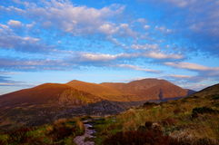 Hiking molls gap kerry ireland. Sunset Stock Photos