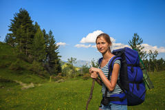 Hiking in Montenegro Stock Image