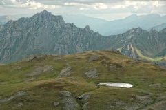Hiking on the Mount Korab Stock Image
