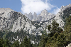 Hiking Mount Whitney. Highest highest summit in California and contiguous USA Stock Photography