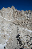 Hiking Mount Whitney. Highest highest summit in California and contiguous USA Stock Image
