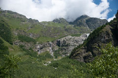Hiking in mountain Stock Photos