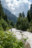 Hiking in mountain Royalty Free Stock Photos