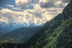 Hiking in mountain Royalty Free Stock Photo