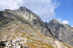 Hiking and mountain High Tatras, Slovakia, Europe Stock Photography
