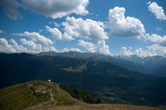 Hiking in mountain Stock Photography