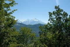 Hiking in mountain Stock Image
