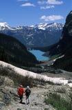 Hiking in Mountains Stock Photos