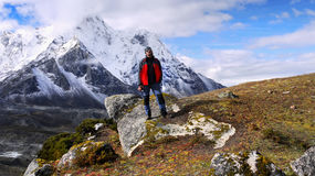 Hiking in Mountains, Himalayas Nepal Royalty Free Stock Photography