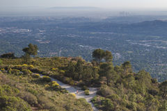 Hiking in the mountains in Los Angeles Royalty Free Stock Photography