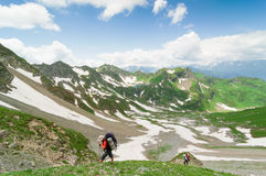 Hiking in the mountains Royalty Free Stock Photography