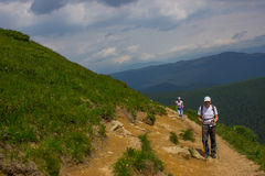 Hiking in the mountains. Royalty Free Stock Photo