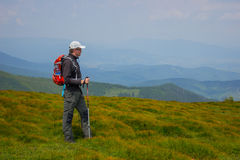 Hiking in the mountains. Stock Images