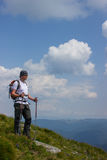 Hiking in the mountains. Royalty Free Stock Photography