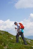 Hiking in the mountains. Royalty Free Stock Images