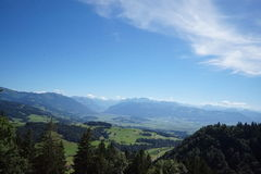 Hiking Mountains Summer Switzerland. Green Alps Tourism Stock Image