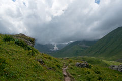 Hiking in mountains Royalty Free Stock Photography