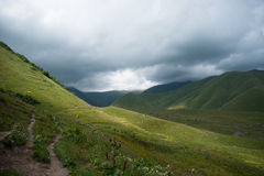 Hiking in mountains Royalty Free Stock Photos