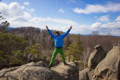 Hiking in the mountains. Royalty Free Stock Photos