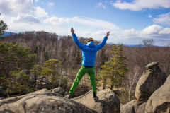 Hiking in the mountains. Royalty Free Stock Image