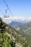 Hiking in the Mt. Baldy Trail Stock Photo