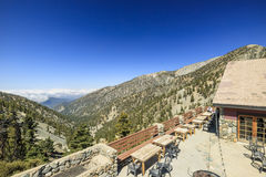 Hiking in the Mt. Baldy Trail Stock Images