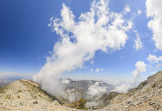Hiking in the Mt. Baldy Trail. At Los Angeles, California Stock Photography