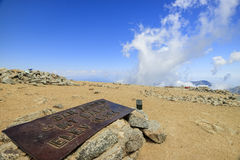 Hiking in the Mt. Baldy Trail Royalty Free Stock Photos
