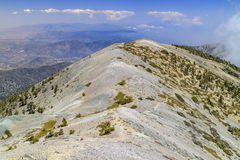 Hiking in the Mt. Baldy Trail. At Los Angeles, California Royalty Free Stock Photo