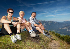 Hiking with my parents Royalty Free Stock Photography