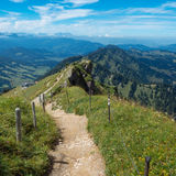 Hiking on the Nagelfluhkette in the German alps Royalty Free Stock Photos