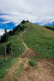 Hiking on the Nagelfluhkette in the German alps. On a sunday afternoon Royalty Free Stock Image