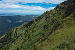 Hiking on the Nagelfluhkette in the German alps. On a sunday afternoon Stock Image