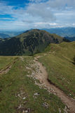 Hiking on the Nagelfluhkette in the German alps Royalty Free Stock Images
