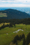 Hiking on the Nagelfluhkette in the German alps. On a sunday afternoon Stock Photography