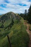 Hiking on the Nagelfluhkette in the German alps. On a sunday afternoon Stock Images